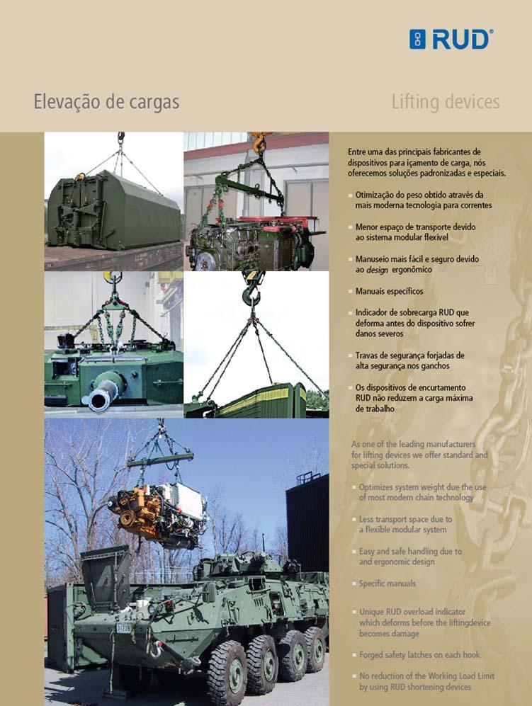 Tecnologia Militar - Elevação de cargas