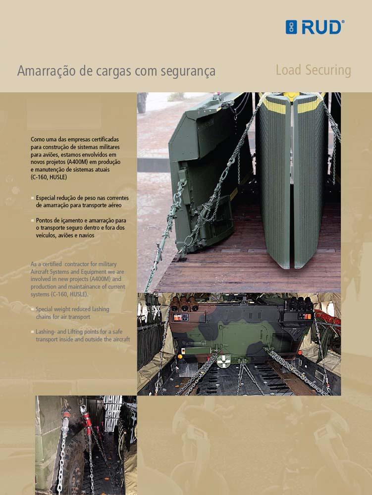 Tecnologia Militar - Amarração de cargas'