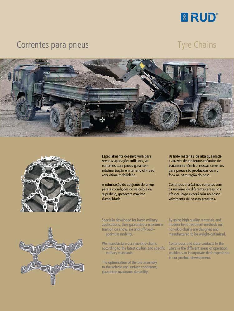 Tecnologia Militar - Correntes para pneus'