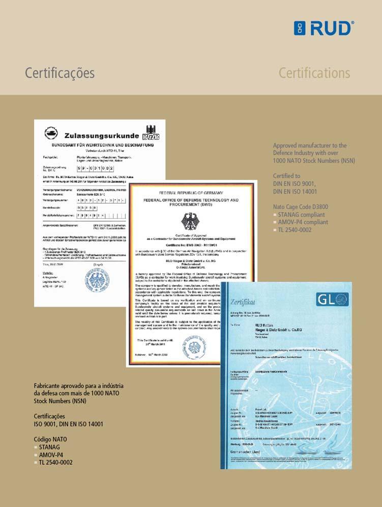 Tecnologia Militar - Certificações'